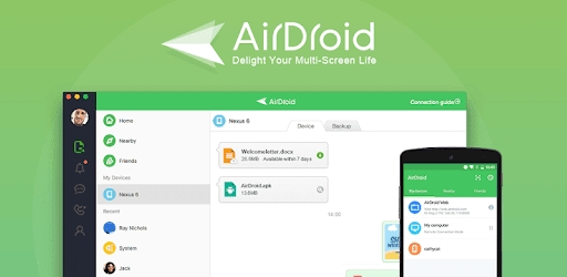 AirDroid is one of the alternatives of Android File Transfer and MacDroid.