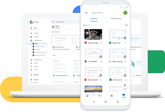 With Google Account, you can get access to your Android files anywhere.