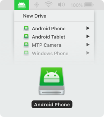 The full access to your Android phone allows editing data right from Mac Finder.